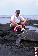 Mark with Sea Turtle