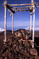 Offerings on Top of Mauna Kea