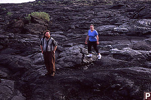 Mike and Val on Lava