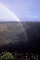 Rainbow in Pauahi Crater