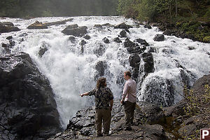 Mike And Eric Looking On Falls