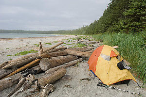 Tent Setup On Beach