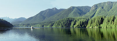 Panoramic of Capilano Reservoir