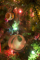 Glass Ball In Christmas Tree