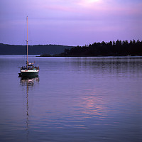 Bedwell Harbour Past Sunset