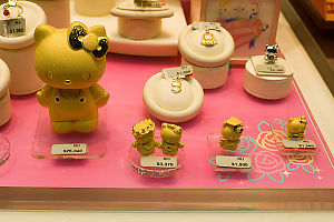 Gold Hello Kitty