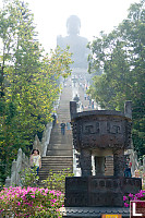 Stairs Up To Giant Buddha
