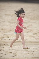 Claira Running On The Beach