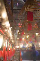 Lanterns And Incense At Man Mo