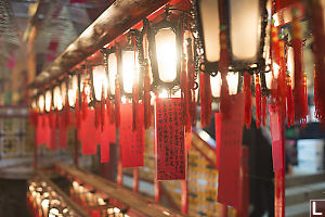 Lanterns At Man Mo