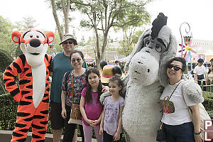 Family With Tigger And Eeyore