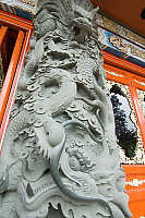 Dragon Detail On Column