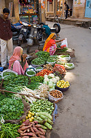 Veggie Sellers At Side Of The Road