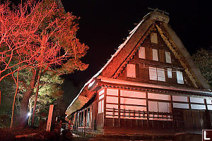 Red Lit House