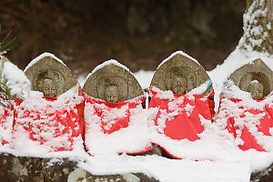 Jizo Dusted In Snow