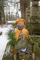 Orange Capped Statue