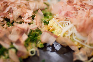 Close Up On Okonomiyaki Ingredients