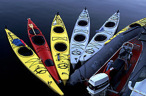 Kayaks in Water
