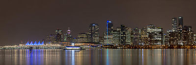 Downtown From Stanely Park Pano
