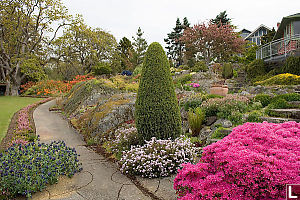 Rock Garden In Front Of House