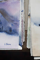 Stack Of Watercolour Paintings