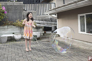 Claira Jumping For Bubble