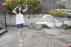 Nara Releases Giant Bubble
