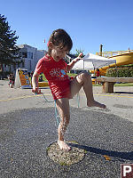 Claira Dancing In Small Sprinkler