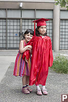 Nara With Claira In Grad Gown