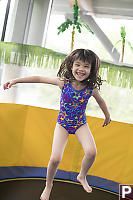 Claira Bouncing On Trampoline