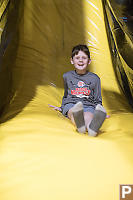 James At The Bottom Of The Slide