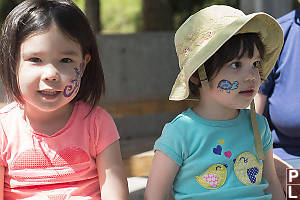 Nara And Claira With Their Face Paint