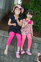 Eating Cones Outside