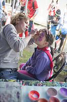 Claira Getting Face Paint