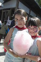 Kids With Cotton Candy