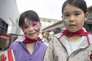 Nara And Claira With Face Paint