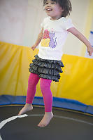 Claira Flying High On Trampoline