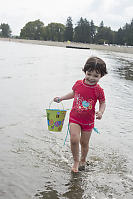 Claira Splashing With Her Bucket