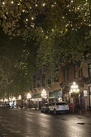 Water Street With Lights In The Trees