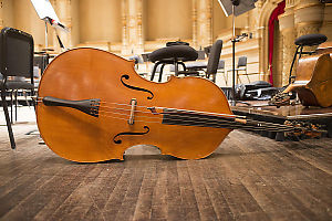 Cello Left On The Stage