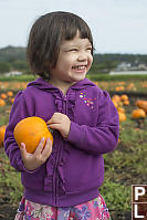 Claira With Her Pumpkin
