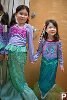 Kids In Mermaid Costumes