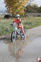 Claira With Reflected Bike