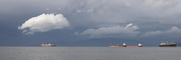 Freighters Before Storm