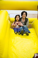 Helen And Nara On Slide