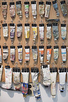 Wall Of Oil Paints