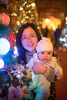 Helen And Claira In Front Of Christmas Tree