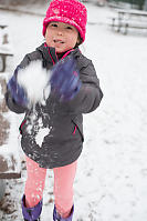 Nara Playing With Snow At School