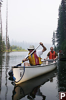 Mark And Eric Canoing