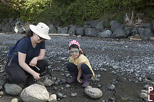 Claira And Helen Digging Fossils